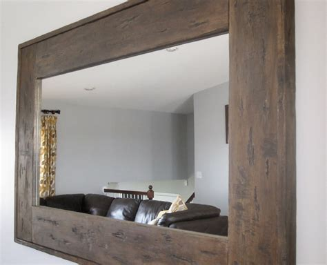 Diy Weathered Wood Mirror Frame