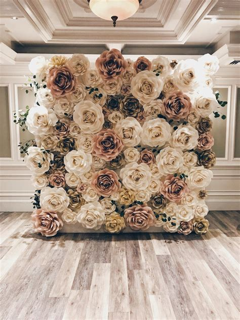 Diy Wedding Backdrop Flower Wall