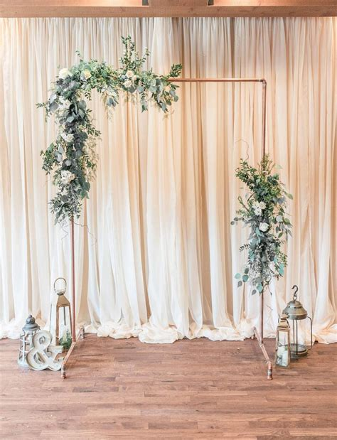 Diy Wedding Backdrop Wedding Arch Flowers