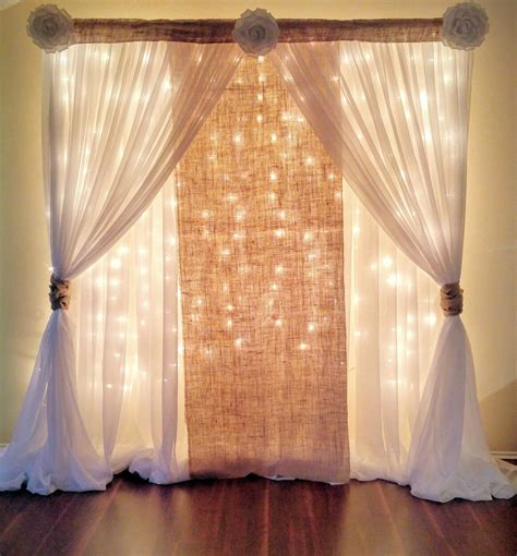 Diy Wedding Backdrop With Lights