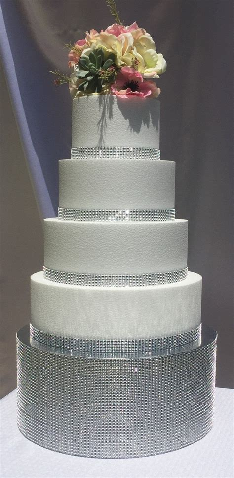 Diy Wedding Cake Stand Bling Water