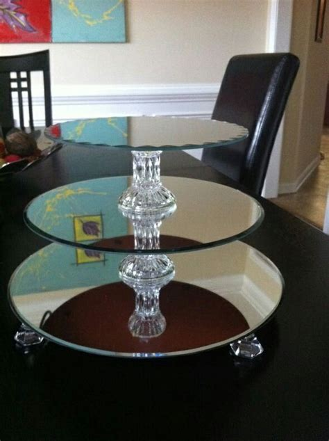 Diy Wedding Cake Stand Made Of Mirror
