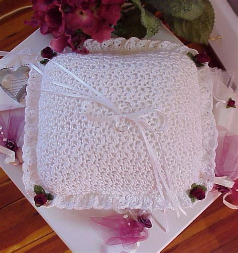Diy Wedding Crocheted Ring Bearer Pillow