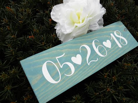 Diy Wedding Date Wood Sign