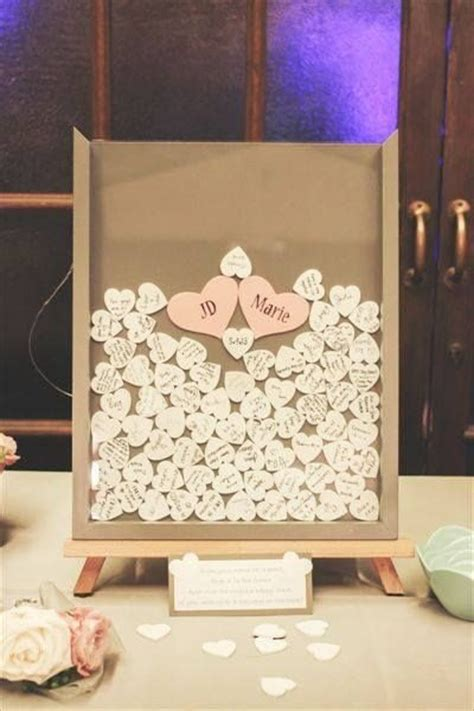 Diy Wedding Guest Book Frame With Hearts