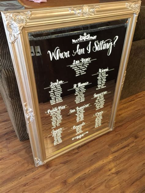 Diy Wedding Seating Chart Mirror