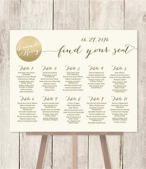 Diy Wedding Seating Chart Sign