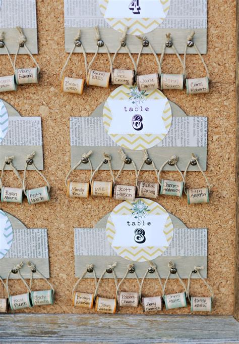 Diy Wedding Seating Plan Ideas