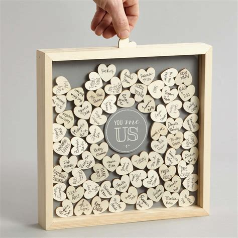 Diy Wedding Shadow Box Guest Book