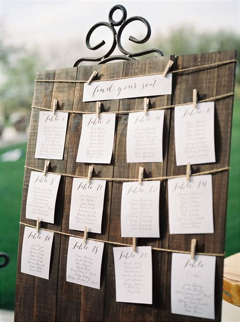 Diy Wedding Table Assignments Vintage