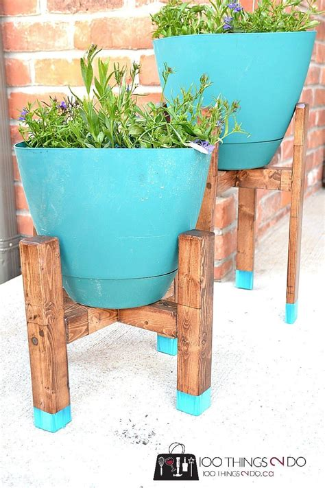 Diy West Elm Plant Stand