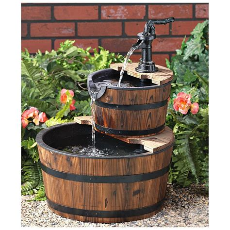 Diy Whiskey Barrel Water Fountain Ideas Video