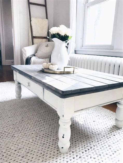 Diy White Chalk Paint Coffee Table