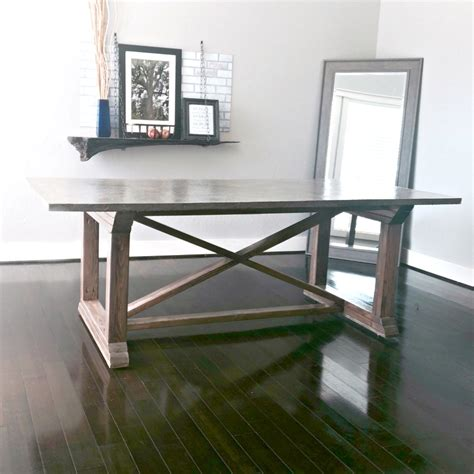 Diy White Concrete Dining Table