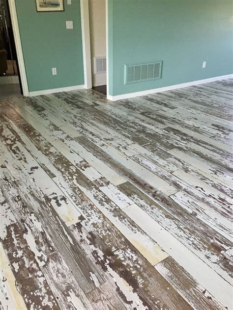 Diy White Distressed Wood Planks