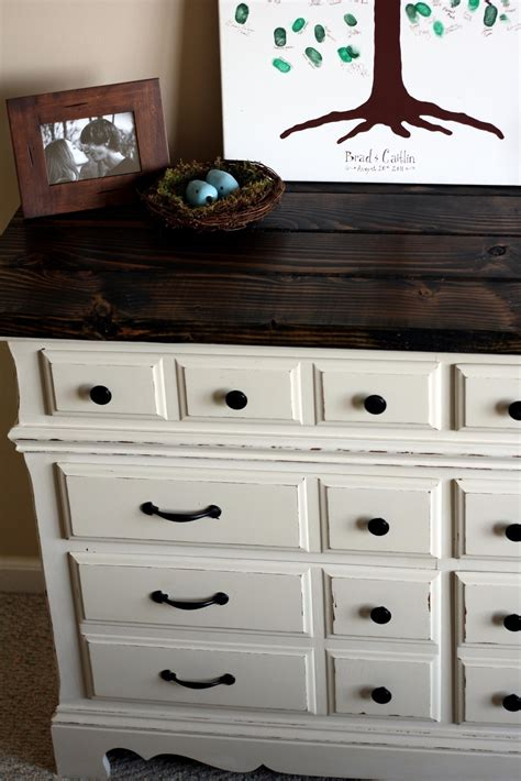 Diy White Dresser With Gray Top