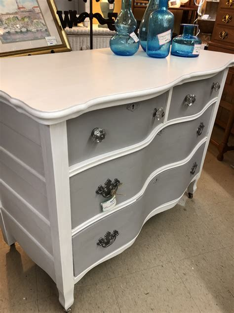 Diy White Dresser With Grey Glaze