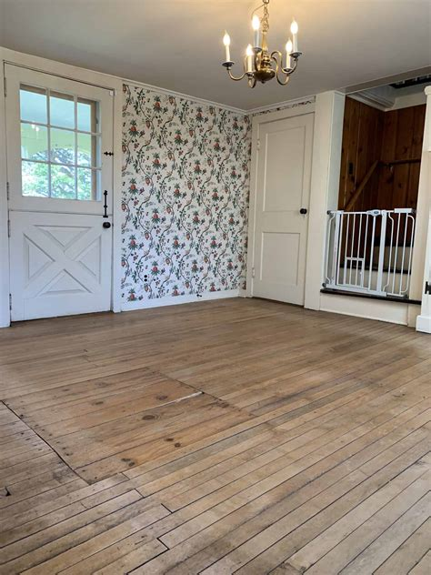Diy White Painted Wood Floor