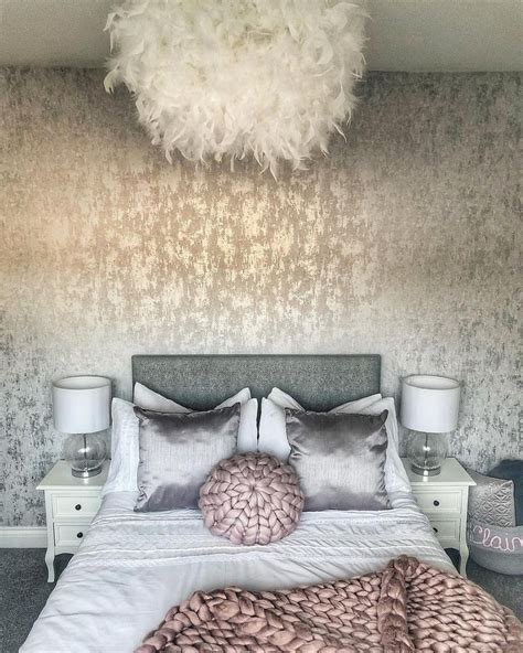 Diy White Silver Bedroom
