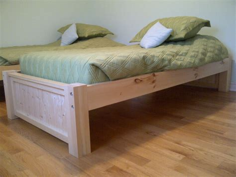 Diy White Twin Platform Bed Building Plans