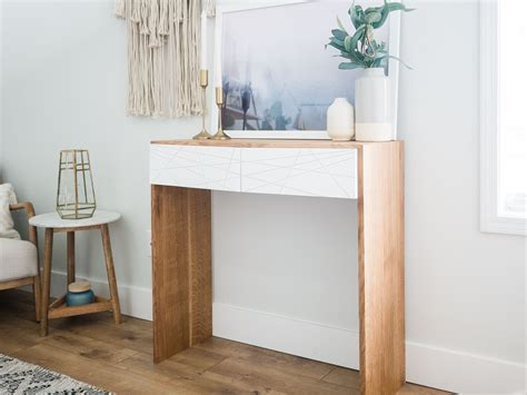 Diy White Waterfall Console Table