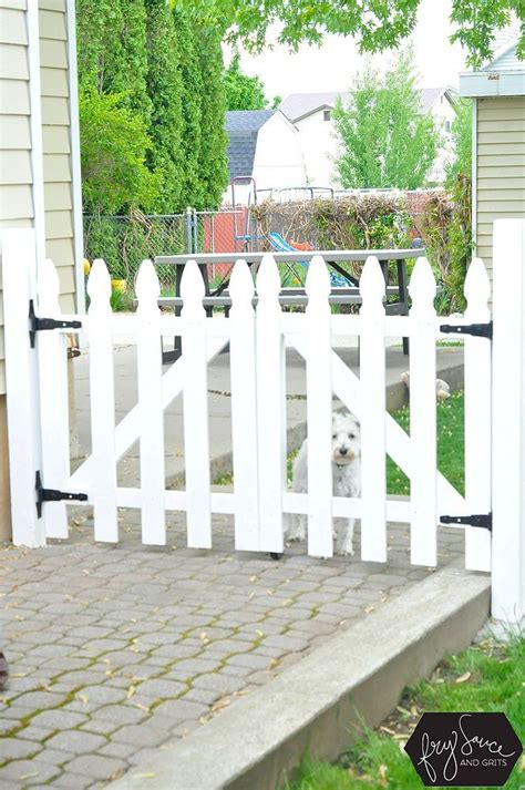 Diy White Wooden Fence