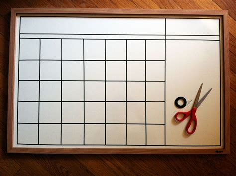 Diy Whiteboard Calendar