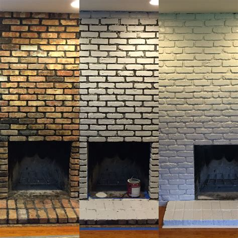 Diy Whitewash Fireplace Black Grout