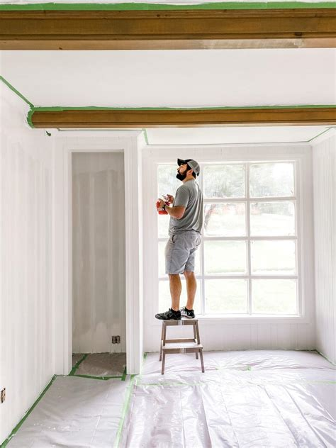 Diy Whitewash Wood Panelling Wall