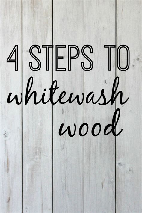 Diy Whitewashing Wood