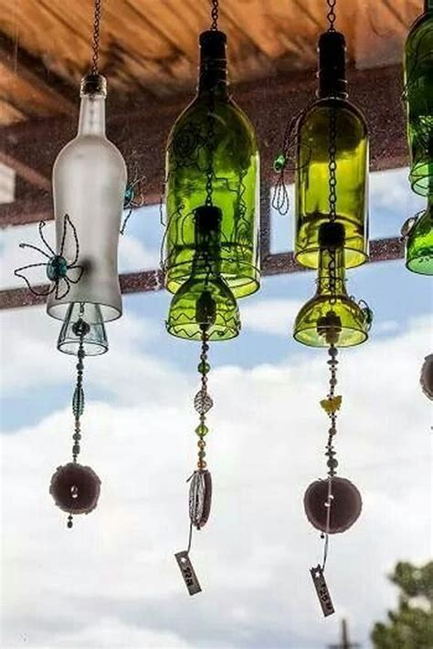 Diy Wind Chimes From Wine Bottles