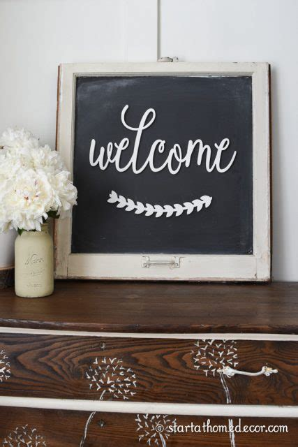 Diy Window Frame Chalkboard