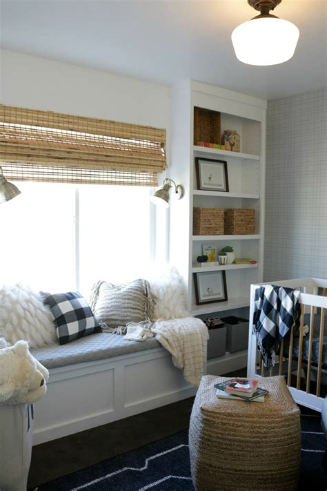 Diy Window Seat And Bookshelves