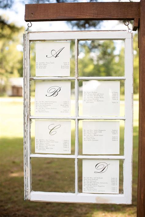 Diy Window Seating Chart