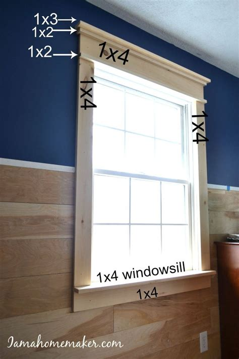 Diy Window Trim Farmhouse