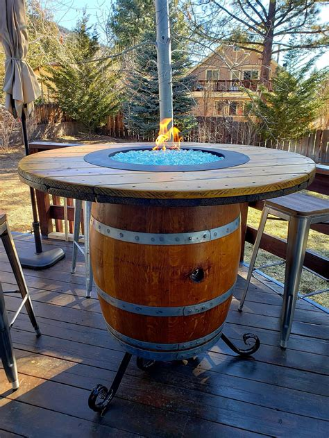 Diy Wine Barrel Fire Table