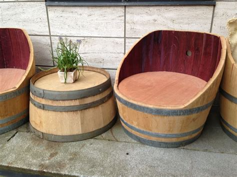 Diy Wine Barrel Furniture Plans
