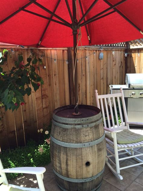 Diy Wine Barrel Umbrella Stand
