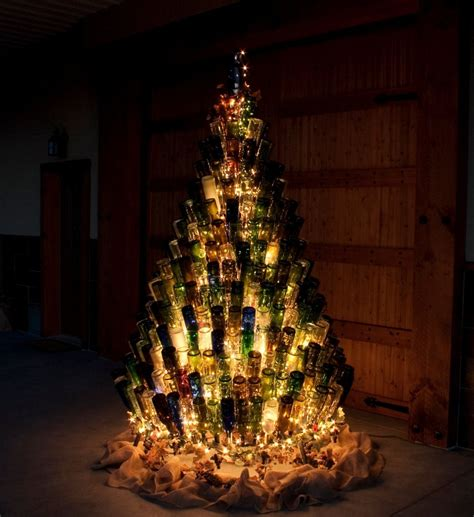 Diy Wine Bottle Christmas Tree Stand