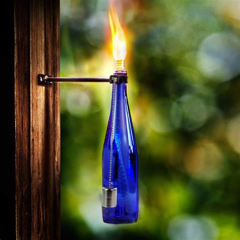 Diy Wine Bottle Tiki Torch Stand Home
