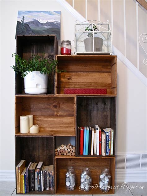 Diy Wine Crate Bookshelf Ideas
