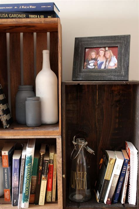 Diy Wine Crate Bookshelf Pinterest
