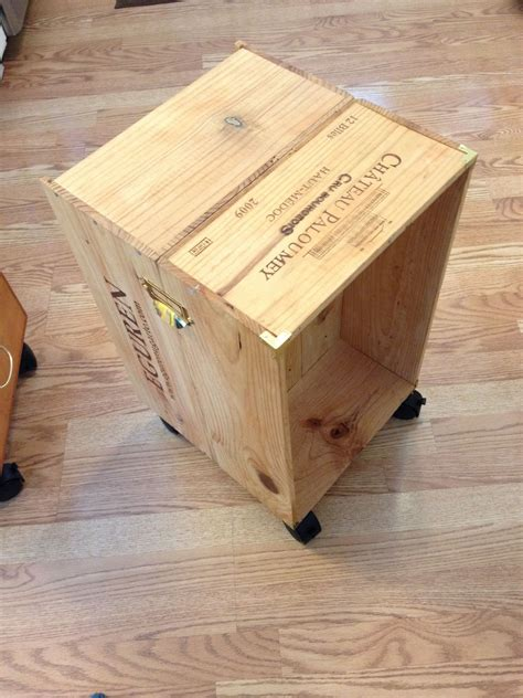 Diy Wine Crate Side Table