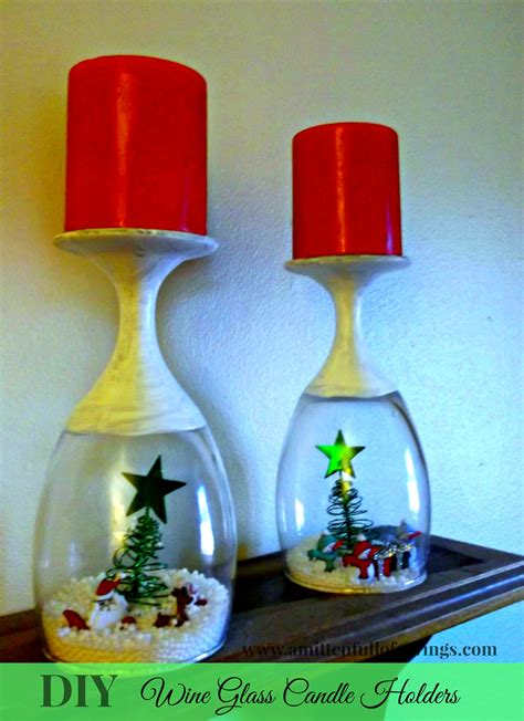 Diy Wine Glass Candle Holder
