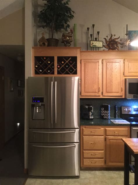 Diy Wine Rack Above Refrigerator