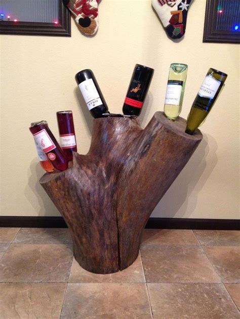 Diy Wine Rack Stumps