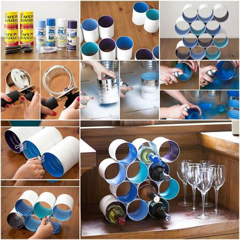 Diy Wine Rack Using Cans