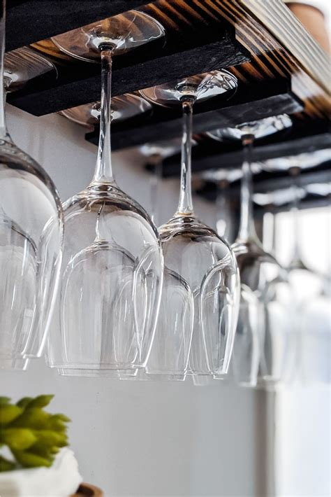 Diy Wine Rack With Glass Holder