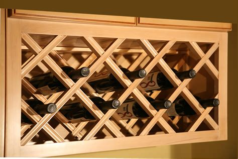 Diy Wine Rack With Lattice