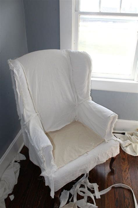 Diy Wingback Chair Slipcover How To Fit Back